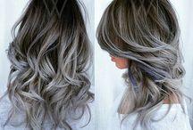 gri beyaz ombre
