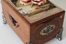 Crafting - Cigar Boxes-Altered / Oh the ways to reuse cigar boxes. All useful and memorable and of course lovely!!