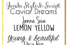Typography / Fonts! Fonts! Fonts! Fonts! Fonts! Fonts!