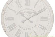 Duże zegary ścienne w stylu prowansalskim