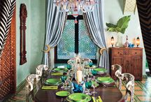 > colorful dining rooms <