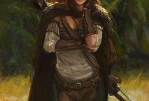 D'n'D Elfin, Druidin mit Wolf