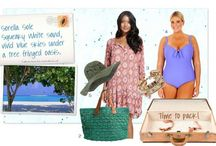 Summer Beach & Swim Wear / A collection of perfect outfits and accessories to wear to the beach this summer #beachwear #beach #sun #surf #bikinis #swimwear
