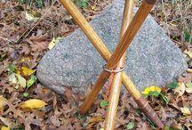 Walking stick,chair