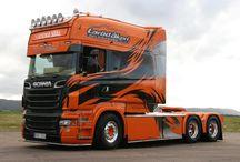 T SCANIA TRUCKS T (LongLine) series / Trucks of the swedish brand SCANIA,LongLine series.