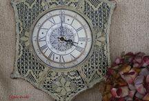 Órák / Clocks / Creations of Yake Kreatív és Paverpol alkotó műhely