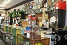 Old-Fashioned Soda Fountain / Take a step back in time and enjoy a treat at our old-fashioned soda fountain. Don't forget to grab some old-fashioned candy and chocolates we sell in bulk to take home with you! Your bar stool is waiting!