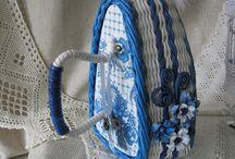 Рукоделие: плетение из бумажной лозы)))
