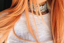 Cabelo cor de pêssego