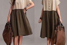 Loose fitting dresses, tunics, bluses. Oversized, one sizes, long dresses, skirts, shirts. / Style inspiration