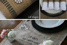 Beautiful burlap ideas