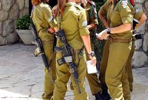 Female soldiers.