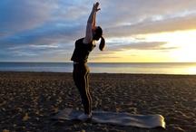 Emma's Sunrise yoga - asana / Sun salutations with other asana on Greystones beach