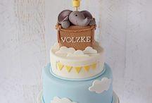 Dirigible, balloon cake
