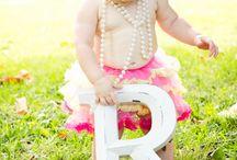 Charlotte's 1st birthday photo shoot / Inspiration