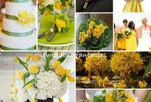 Green and yellow wedding