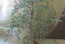деревья из бисера / для интерьера помещений и подарка