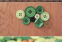 ~..~ Botões ~..~ Buttons / by Cáu ~..~ Pano e Papel