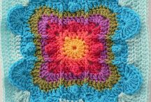 Beautiful crochet square