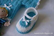 Sapatinhos Crochê e Tricôt Bebê