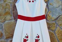 Moda folkowa damska / sukienki góralskie, koszule folkowe, pasy skórzane góralskie