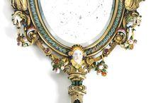 espelhos de mão