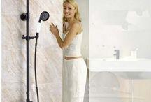 GOWE Modern Shower Faucet with Showerhead Tub Spout Trim & Valve Oil Rubbed Bronze