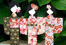 Японские бумажные куколки