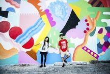 Zosen y Mina Hamada - Pintura mural / Hace tiempo que quería hablar en el blog de muralismo hoy en día, y os ofrezco la obra de dos de los mejores.