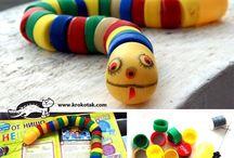 Juguetes para niños (con elementos reciclados