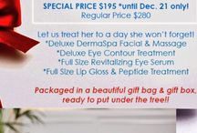 Sales and specials  / Spa and skin rejuvenation sales and specials at Dermaspa.  The premier spa and skin rejuvenation clinic in Durham Region, serving Pickering, Whitby, Scarborough, Ajax, Oshawa, Toronto and Bowmanville.