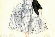 Colouring Book 1950s Fashion