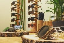 Sunglasses provided by nature / Sunglasses made out of different types of woods