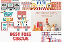 Free circus party printable links