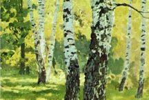 Painter Isaac levitan / Bomen