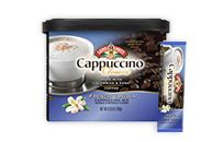 Cappuccino Classics® flavors / Skillfully blended with 100% Columbian coffee, Cappuccino Classics® Hot Cappuccino Mixes are perfect to enjoy with family and friends in the comfort of your own home. Just add hot water to create a rich, flavorful cappuccino.