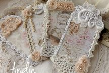 Labels vintage shabby chic