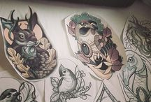 Neotraditional Tattoos/Sketches