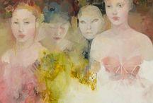 groepportret aquarel