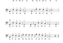 notové zápisy cello