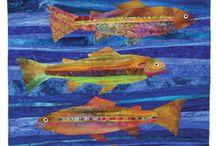 рыбы в лоскутной технике / изображение рыбы в лоскутной технике