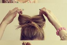 Ways to do the hair.  / by Haley Branum