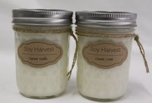 Soy Harvest Pure Soy Candles / This board showcases some of the handmade products that Soy Harvest designs and sells on its website.