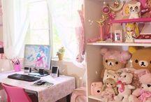 Sweet girl's kawaii rooms