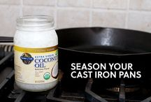 cast iron skillet and coconut oil
