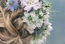 summery wedding hair flowers