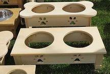 Dog bowl stands