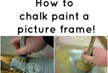 Chalk paint picture frames