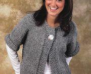 Knitting cardigans, vests