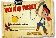 Invitación Jake y los piratas
